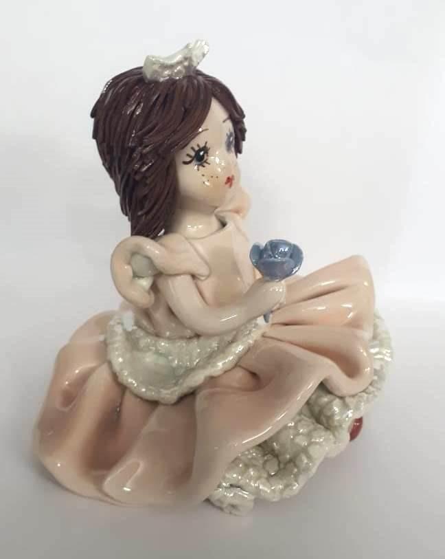 Статуэтка фарфоровая «Девочка в розовом платье» Zampiva