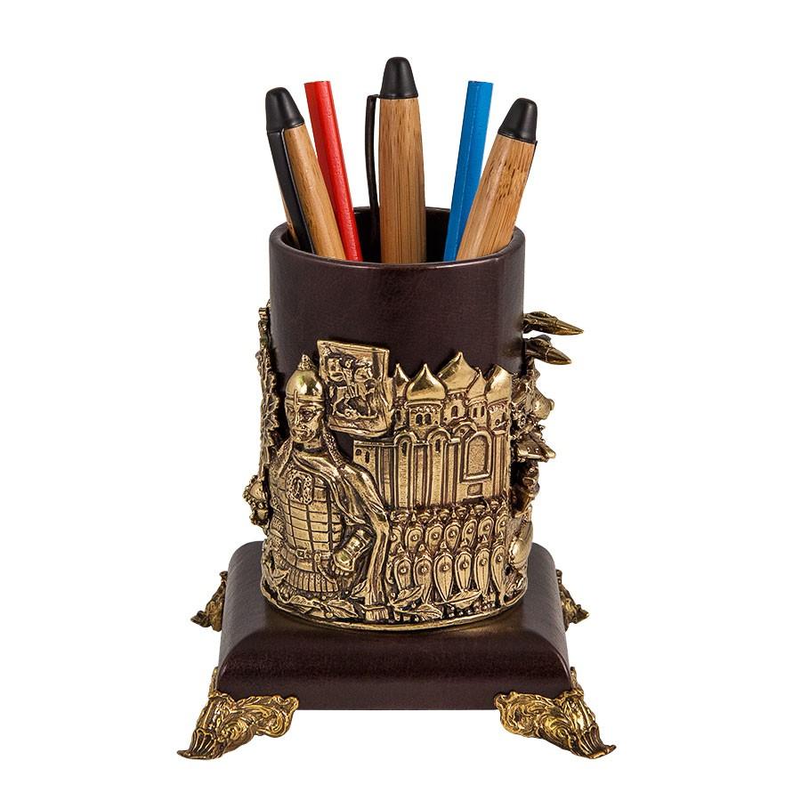 Подставка для ручек «Герб России» подарок руководителю на стол