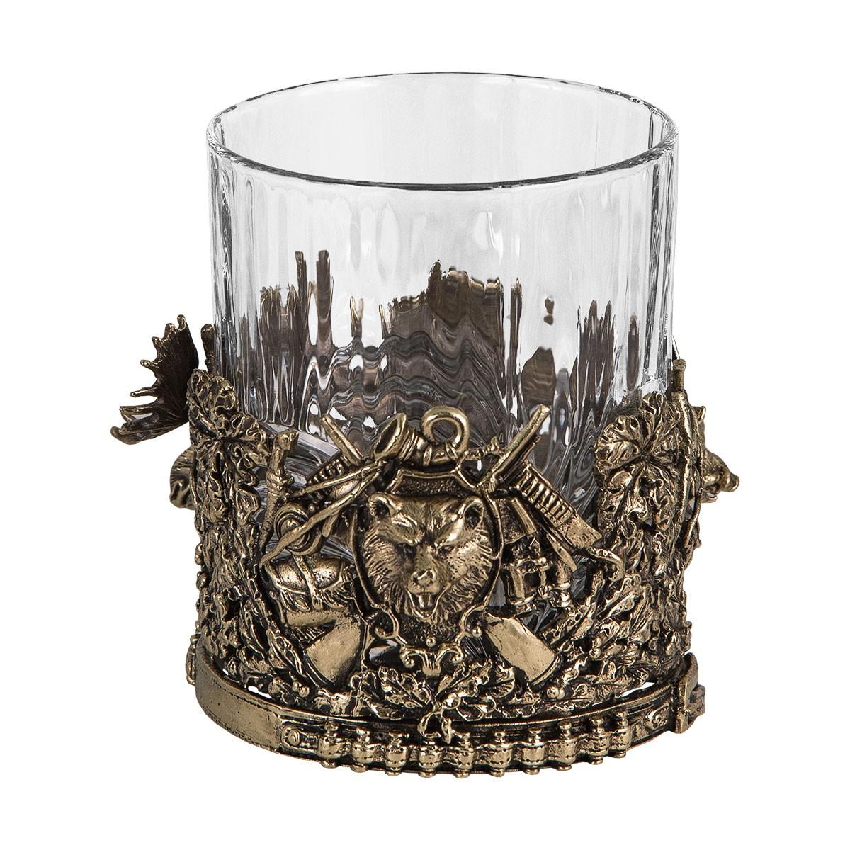 Подарочный набор из 2-х бокалов для виски «Охота» в подарок охотнику