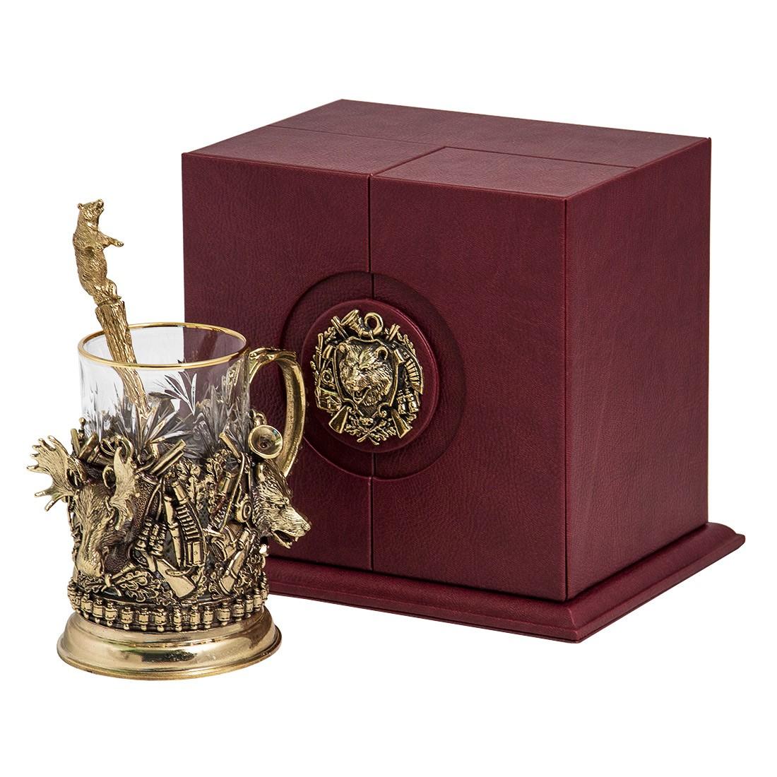 Подстаканник в наборе из коллекции «Охота. Трофеи» в подарок охотнику