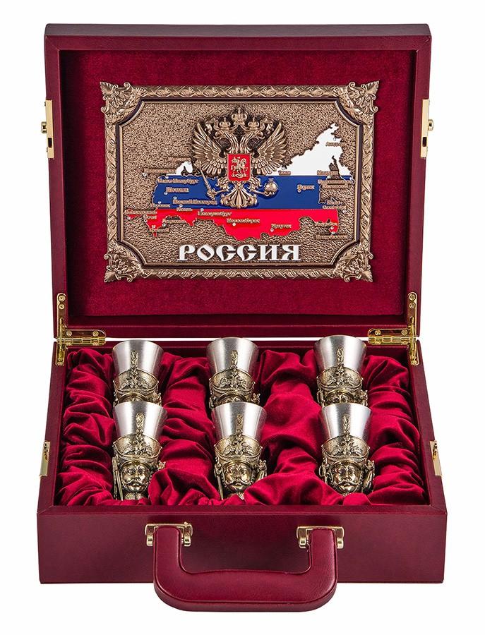 Подарочный набор «Гусарский» в кейсе (латунь)