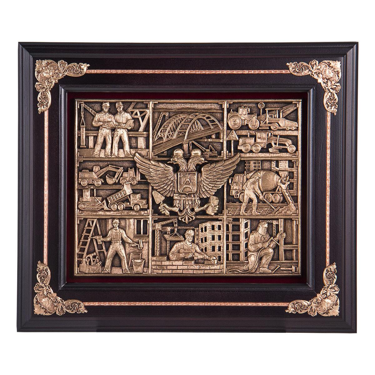 Подарок строителю ключница настенная «Строители» деревянная